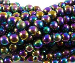 Wholesale Multicolor Shamballa Bracelet - 10mm Fasion Multicolor Hematite Loose ball Beads Shamballa Findings Fit DIY Bracelet Bead for bracelet hotsale DIY Findings Jewelry