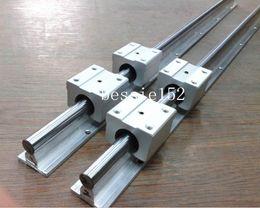 Wholesale Shaft Linear Guide Support - 2pcs SBR16 -L508mm guide shaft support linear rail + 4 SBR16UU linear motion bearing block slide unit CNC DIY