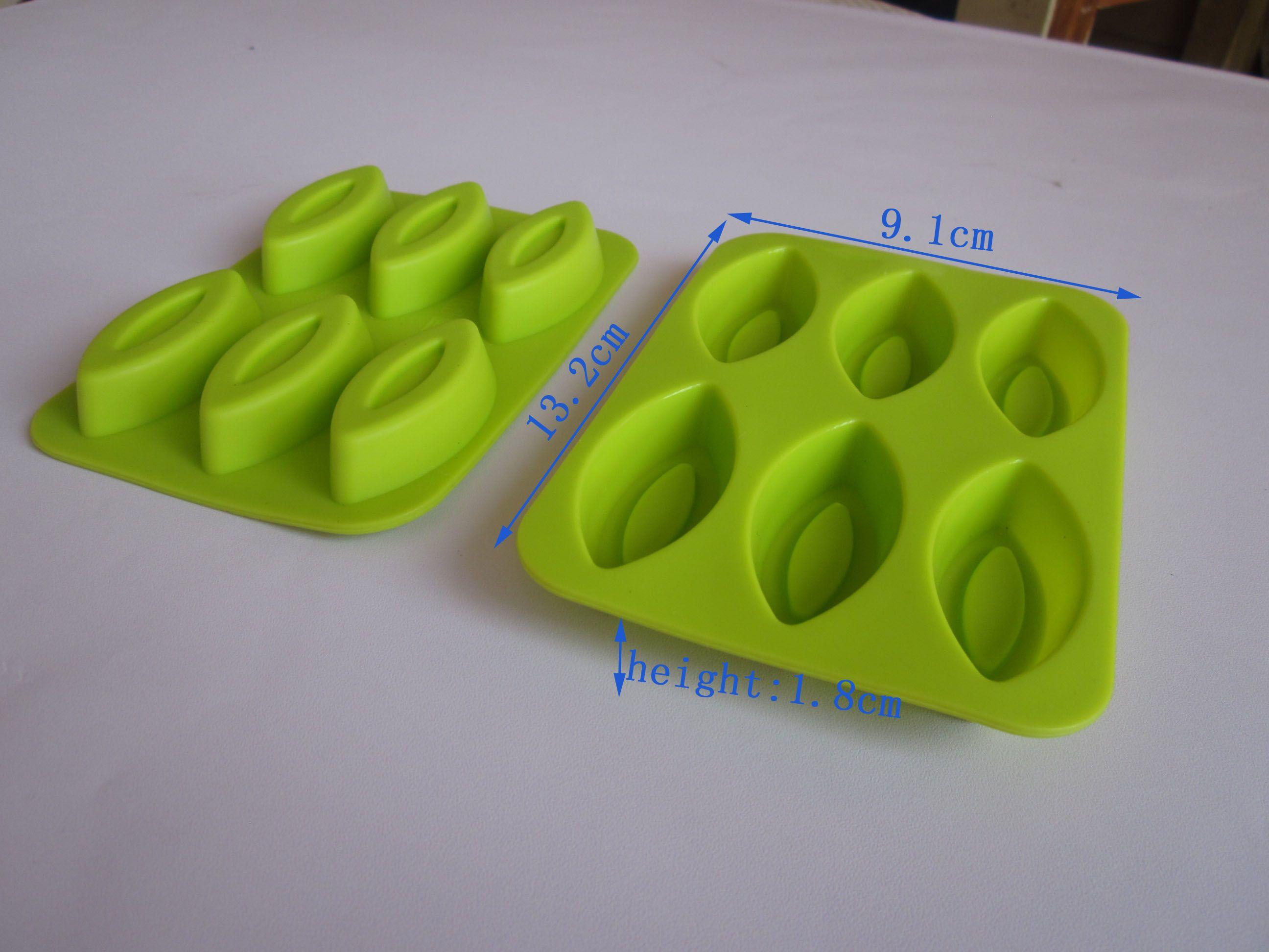 10 st / parti 100% silikongummi silikonkaka mögel / silikon choklad mögel / spirande mögel / gelé mögel / tårta verktyg / matlagningsverktyg + gratis frakt