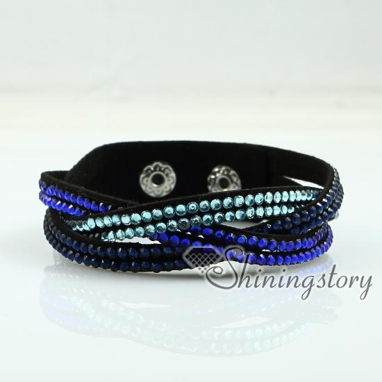 Кристалл горный хрусталь браслеты slake браслет браслеты из натуральной кожи обернуть браслет ручной браслеты кожаные дешевые браслеты