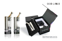 Wholesale Ego Led Lights - Electronic Cigarette EGO Kits Rotate 360 Degrees Drip Tip Bottom with Different LED Lights Logo Matrix Ninja Kits New Arrival
