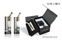 Wholesale Ego Logo - Electronic Cigarette EGO Kits Rotate 360 Degrees Drip Tip Bottom with Different LED Lights Logo Matrix Ninja Kits New Arrival