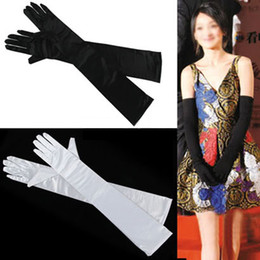 Wholesale Ladies Black Dress Gloves - Lot of 10 Pairs Bridal Accessories LADIES SATIN PARTY DRESS PROM EVENING WEDDING BRISAL LONG FINGER