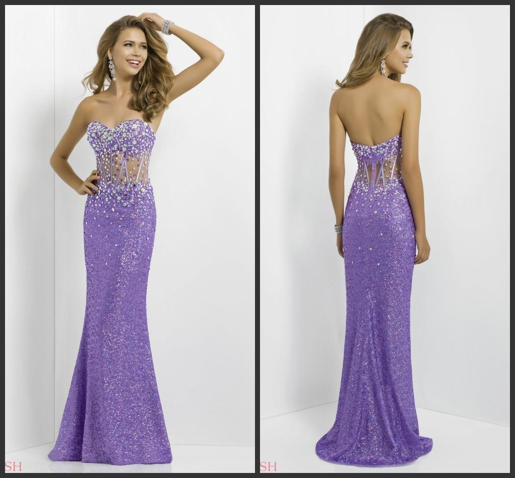 2014 Blush 9705 Strapless Lavender Prom Dress Alexia Illusion ...