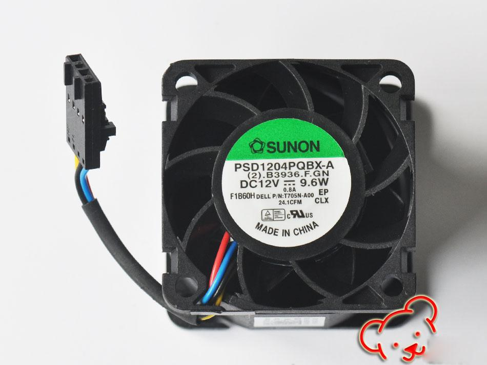 Original novo para os fãs do servidor Dell R210 0T705N 0N229R Sunon 40 * 40 * 28MM PSD1204PQBX-A