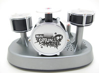Wholesale Toy Drum Sets For Kids - Mini Finger Drum Set Novelty Desk Musical Toy Touch Drumming LED Light Jazz Percussion for Kids Child Children Instrument Educational Office