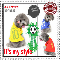 Wholesale Apparel World - 2014 Brazil World Cup Dog Clothes Raul Pirlo Brallack Pet Clothes Fashion Apparel Sporting Material for Dog Pet