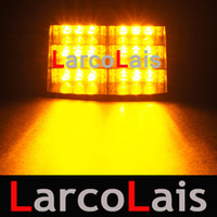 Wholesale Amber Cup - Larcolais 18 LED Strobe Lights with Suction Cups & Fireman Flashing Emergency Security Car Truck Light Signal Lamp