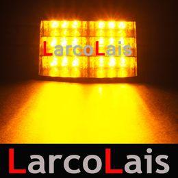 Larcolais 18 Vantözlü Yanıp Sönen LED Strobe Işıkları Yanıp Acil Güvenlik Araba Kamyon Işık Sinyal Lambası