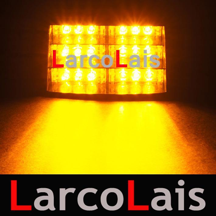Larcolais 18 LED стробоскопы с присосками пожарный мигает аварийного безопасности автомобиля грузовик свет лампы сигнала