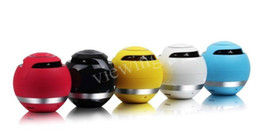 Wholesale Free Calls Computer - Hot selling Colorful Round Ball A15 Bluetooth Mini Portable Speaker  Computer Speaker Hands Free Call TF Card Supported