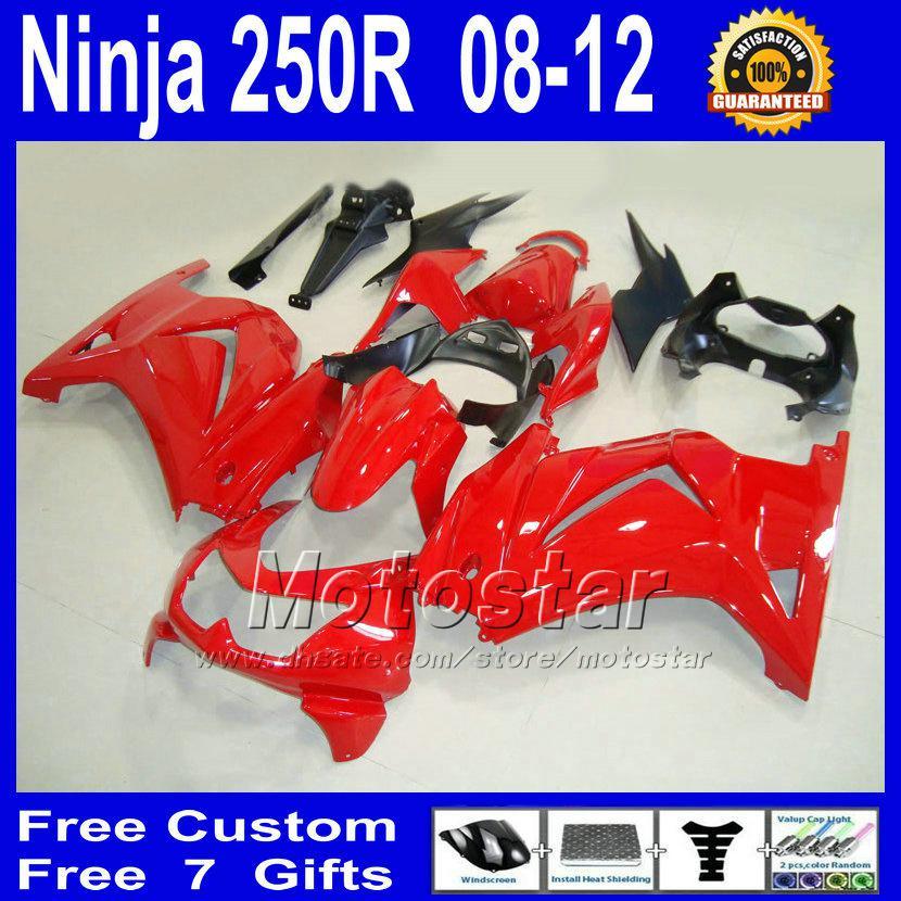 oem red for Kawasaki Ninja ZX 250R 2008 2009 2010 2011 EX250 08 09 10 11  bodywork fairing kit