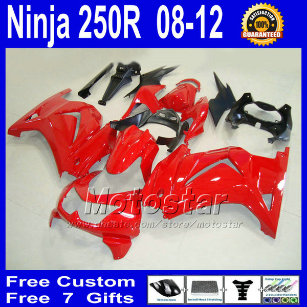 oem red for Kawasaki Ninja ZX 250R 2008 2009 2010 2011 EX250 08 09 10 11 bodywork fairing kit