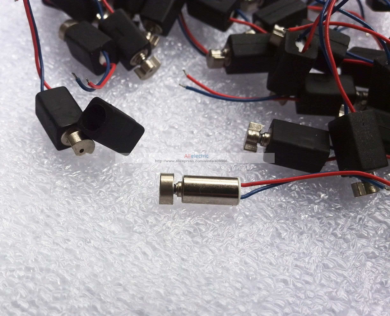 50st / mycket låg effekt 4 mm x 8mm vibrationsundersökare vibrerande vibratormotor