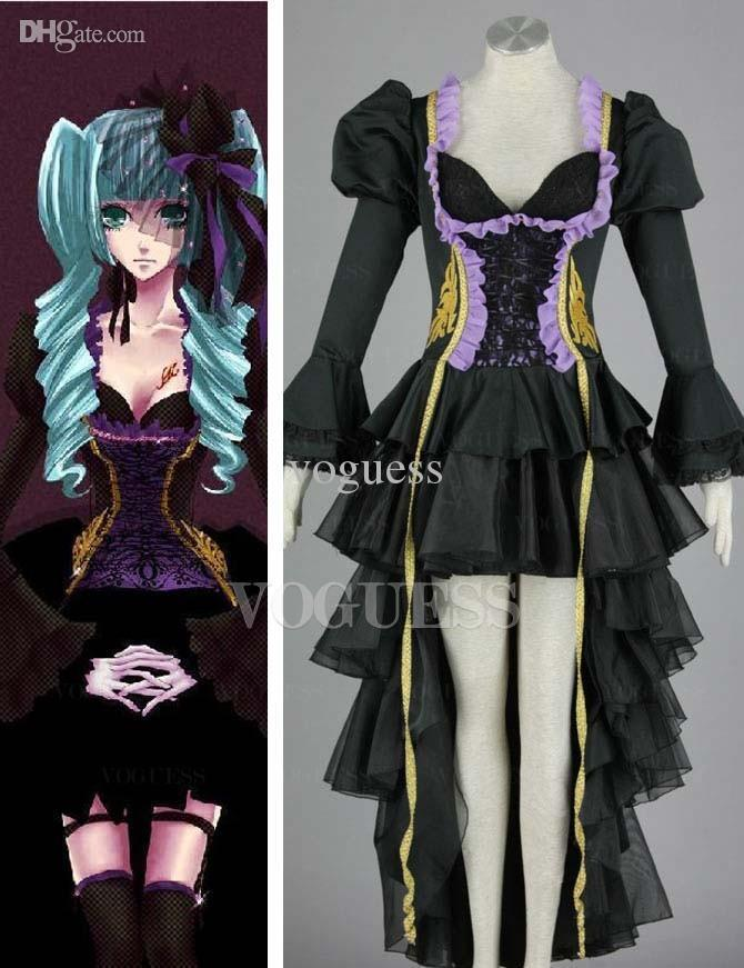 Top Vocaloid Hatsune Miku Two Piece Anime Cosplay Costumes Halloween Anime  Cosplay Anime Nurse Outfit From Voguess, $87.78