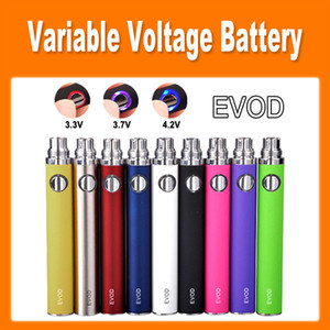 Wholesale EVOD twist Variable Voltage mAh mAh mAh Battery Adjust Voltage by Button for eGo Atomizer electronic cigarette colorful