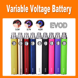 Wholesale ego button battery - EVOD twist Variable Voltage 650mAh 900mAh 1100mAh Battery Adjust Voltage by Button for eGo Atomizer electronic cigarette colorful(0204038)