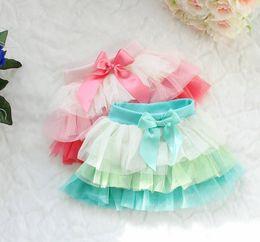 Wholesale Cute Chiffon Skirts - Wholesale - New!Summer summer girls cute color bars veil skirt   tutu skirt 4p l
