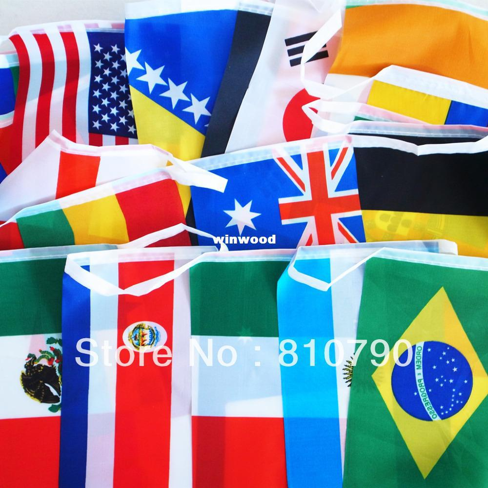 2014 Brazil WORLD CUP BUNTING Of FLAGS ALL 32 TEAMS Flag 21x14cm Small  Novelty Toys Novelty Sites From Winwood ad2fc50a4