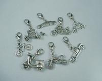 Wholesale Tibetan Silver Car - Mix Tibetan Silver Vehicle Car Bike Motorcycle Charm Dangle Beads DIY(z016)