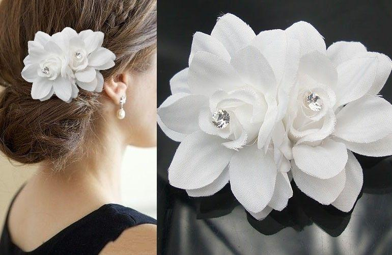 10px small white daisy rose hair flower clip pin for bridal wedding 10px small white daisy rose hair flower clip pin for bridal wedding prom party girl women wedding hair accessories flower wedding hair with accessories from mightylinksfo