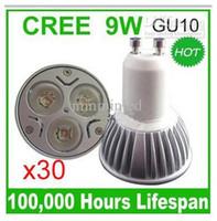 ingrosso la migliore qualità ha condotto le lampadine-Vendita calda migliore qualità dimmerabile da incasso 85 ~ 265VAC LED lampada GU10 E27 9W lampadine riflettori CE