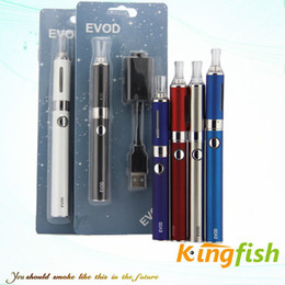 Wholesale Ego Atomizer E Cig - Kingfish Electronic Cigarette EVOD kit E Cigarette e cig with EVOD Battery and MT3 EVOD Atomizer vaporizer pen ego cigarette blister kit