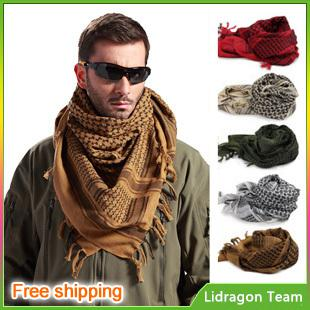 Factory Sales New Military Windproof Muslim Hijab Shemagh Tactical Desert  Arabic Keffiyeh Scarf 100% Cotton Wargame Scarf Z580 Winter Scarves Blanket  ... 1ec9fea3a63