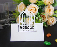 Wholesale Laser Shipping Labels - Laser engraving Birdcage Place Cards Table card customization colours- shipping free