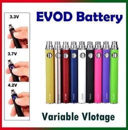 Wholesale Ego Button Battery - Variable Voltage EVOD Battery Button Control Voltage 3.3V-3.7V-4.2V E Cig Battery 650mAh 900mAh 1100mAh for eGo 510 Clearomizer