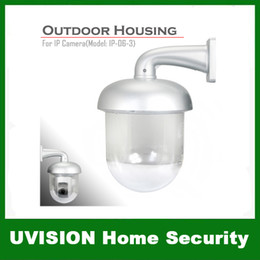 Wholesale Waterproof Security Camera Housing - New Outdoor Waterproof Dome Housing Enclosure for Security CCTV IP Pan Tilt Camera free shipping