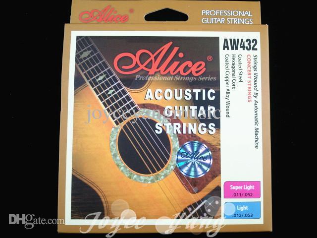 3 مجموعات من أليس AW432-L ملون الكرة نهاية الغيتار الصوتية سلاسل مطلي الصلب 1-6 سلاسل شحن مجاني بالجملة