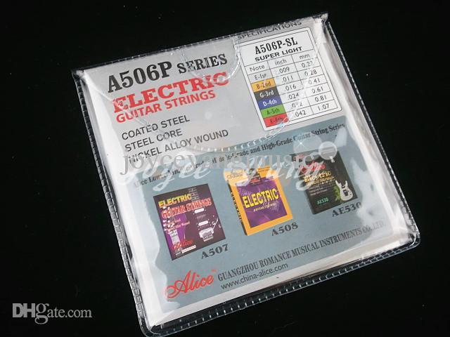 3セットのAlice A506エレキギターストリングメッキ鋼鉄弦1-6弦カラフルなボールエンド送料卸売