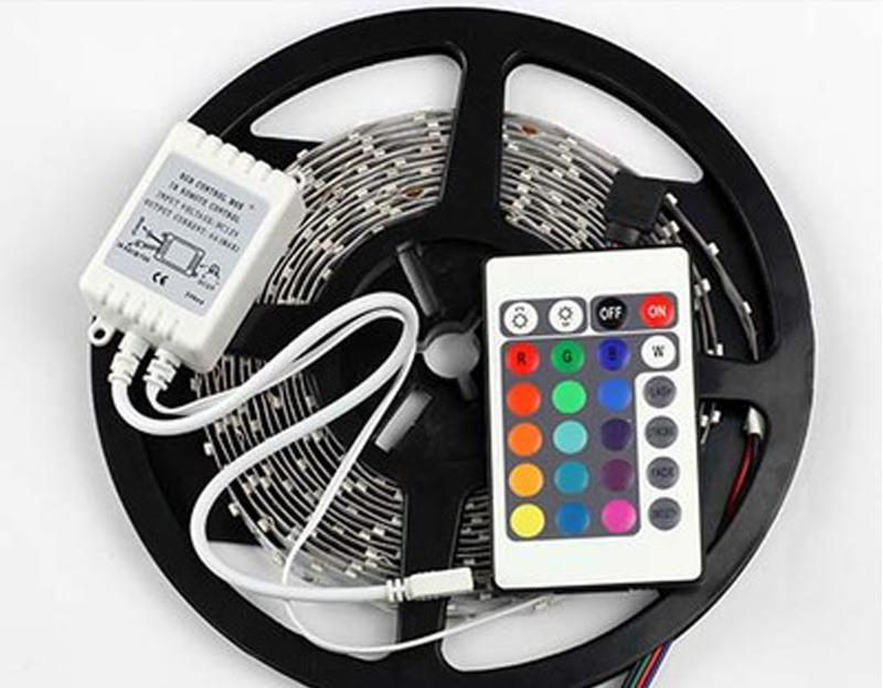 5M 12V RGB 3528 300leds Lámpara de luz de tira LED no impermeable 60LEDs / M 5M / Roll 5M / Lot