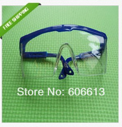 Wholesale Dental Protective Glasses - New Adjustable Blue Frame Dental Protective Eye Goggles Safety Glasses ,20pcs lot, Free Shipping
