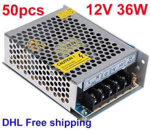 Wholesale DC 12V 36W Switching Power Supply Transformer LED Driver High Quality Express DHL Fee Shipping 50pcs Lot