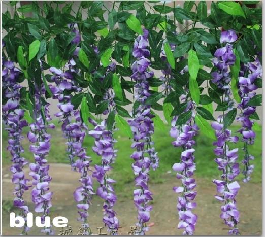 100 CM Length Artificial Flower Silk Wisteria Vine for Party Wedding Decoration