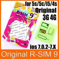 Wholesale Ios Rsim9 - R-SIM 9 Pro Unlock Card R-SIM9 RSIM9 Pro for iphone 5 5G 5S 5C 4S 3G GSM WCDMA iOS 7.0- 7.x