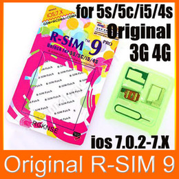 Wholesale Iphone 4s Unlocking Sim - R-SIM 9 Pro Unlock Card R-SIM9 RSIM9 Pro for iphone 5 5G 5S 5C 4S 3G GSM WCDMA iOS 7.0- 7.x