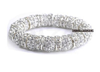 Wholesale Disco Balls Beads - New Style!10mm best White best spacer Hot White disco Ball Beads Bangles hot Crystal Shamballa Bracelet jewelry Christmas Gift