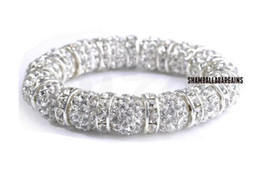 Wholesale Shamballa Crystal Disco Ball Beads - New Style!10mm best White best spacer Hot White disco Ball Beads Bangles hot Crystal Shamballa Bracelet jewelry Christmas Gift
