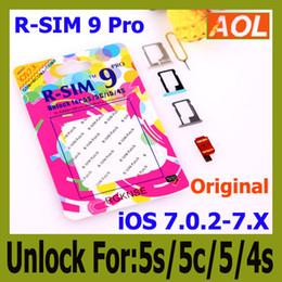 Wholesale I Unlocked - AUTO Unlock ALL iPhone5C 5C 5G 4S R SIM 9 pro I OS 7 IOS7 7.0.1 7.0.2 7.1 R-Sim 9 Docomo AU Sprint Verizon T-MOBILE 1.00.06
