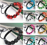 Wholesale Crystal Hematite Jewelry Wholesale - Lowest Price!10mm Hot Disco Ball Bracelets Resin Crystal Beads Bracelets Hematite Beads Bracelet Adjustable women jewelry Gift