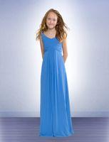 Wholesale Royal Blue Color Code - A Line floor length fold blue flower girl dress Chiffon linght blue Standard code NewYear 2014 Free shipping Princess dresses