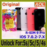 Wholesale Iphone Unlock Uk - r sim 9 pro R-SIM 9 RSIM9 R-SIM9 PRO Unlock for iphone 5s 5c 5 5g 4s IOS 7 7.0 -7.X GSM CDMA WCDMA japan Domoco Sprint Verizon UK T-mobile