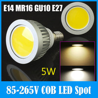 Wholesale E27 Dimmable Flood Light - High Brightness E14 MR16 GU10 E27 5W COB No radiation LED Spot Light Dimmable Bulb Energy Saving Ceiling Down Flood Lamp For Home Office