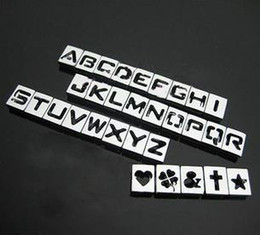 8mm sliding charms alphabet letters Australia - 8mm DIY Alloy Slide Squre Letter Charms Hollowed A-Z   0-9 Alphabet And Numbers 130Pcs Lot Free Shipping