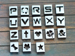 8mm sliding charms alphabet letters Australia - 8mm DIY Alloy Slide Squre Letter Charms Hollowed A-Z   0-9 Alphabet And Numbers 2400Pcs Lot Free Shipping