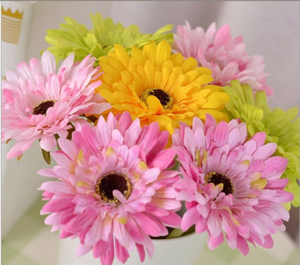 best selling New Arrival 30 CM Length Beautiful Artificial Gerbera Daisy Silk Flowers for Party Table Decorations Free Shipping