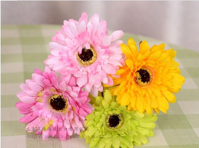 Yeni Varış 30 CM Uzunluk için Güzel Yapay Gerbera Papatya Ipek Çiçekler Parti Masa Süslemeleri Ücretsiz Kargo